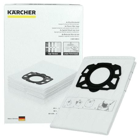 karcher 4 Bolsas de filtro para Kärcher WD6