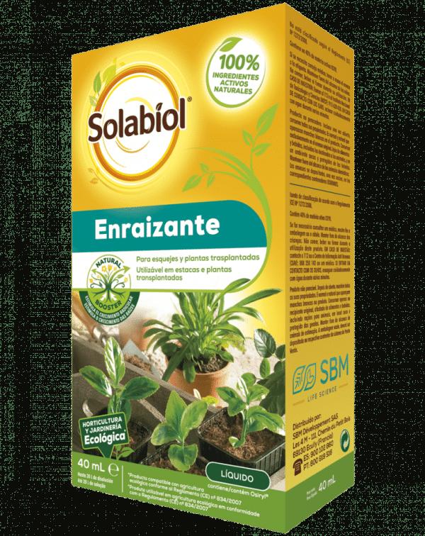 SOLABIOL Enraizante Estimulador del crecimiento radicular para esquejes y plantas transplantadas.