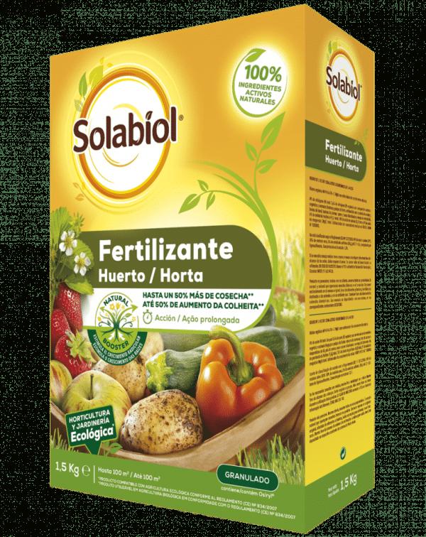 SOLABIOL Fertilizante Huerto Abono orgánico con estimulador del crecimiento radicular.