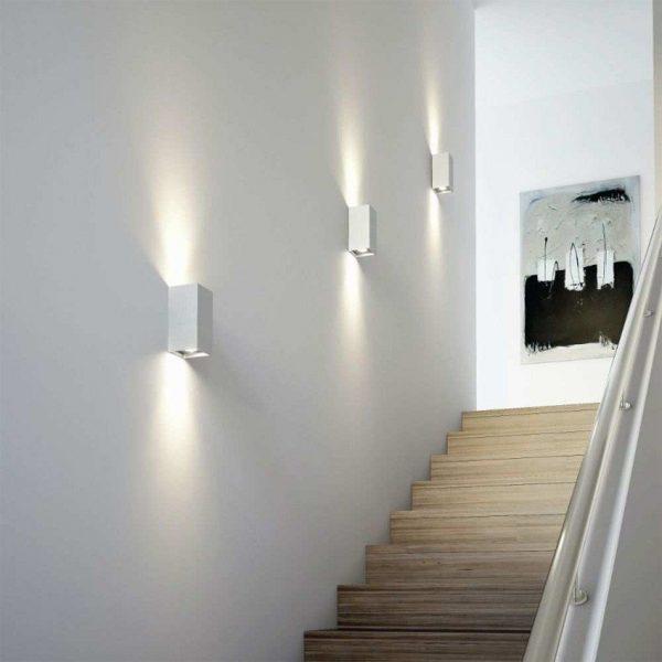 Aplique Miseno Blanco Iluminación Doble Cara