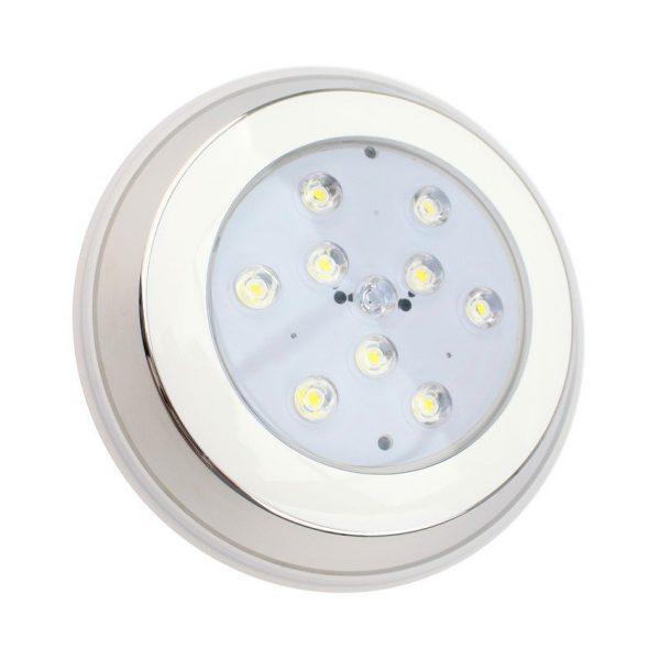 Foco Piscina LED Superficie Inox 9W