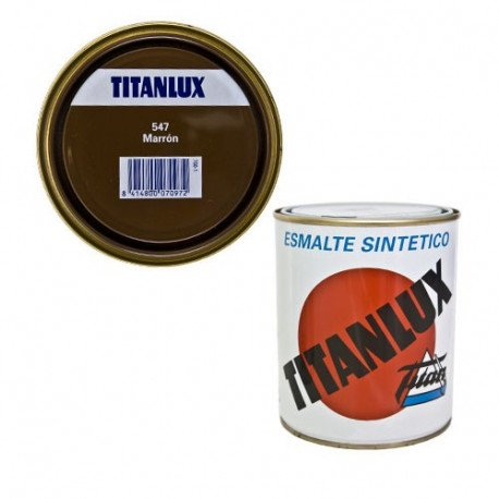 TITANLUX ESMALTE SINTÉTICO MARRON 750ml