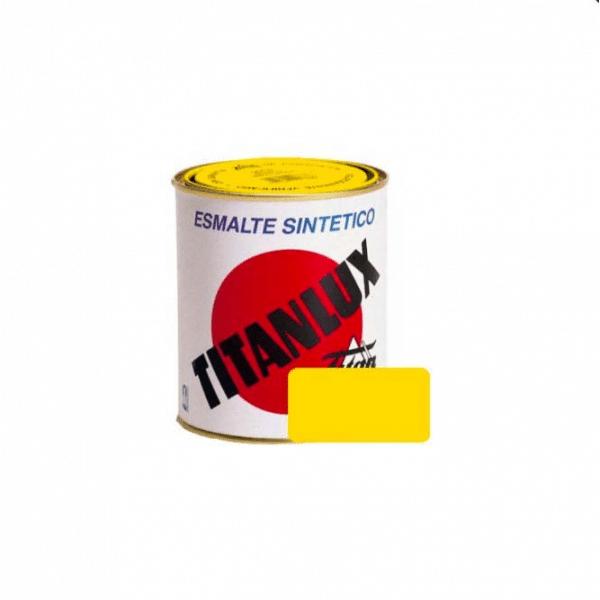 TITANLUX ESMALTE SINTÉTICO AMARILLO REAL 750ml