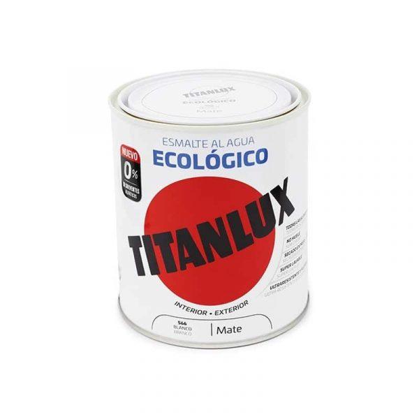 ESMALTE ECOLÓGICO AL AGUA TITANLUX MARFIL MATE  750mL