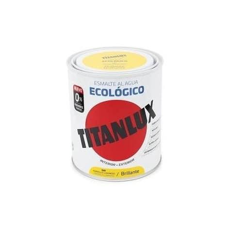 ESMALTE ECOLÓGICO AL AGUA TITANLUX AMARILLO LUMINOSO  BRILLANTE 750mL