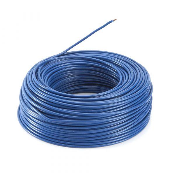 rollo 100M hilo flexible azul 1x4mm
