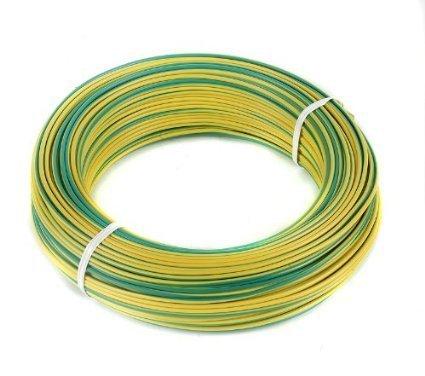 rollo 100M hilo flexible amarillo-verde 1x1.5mm