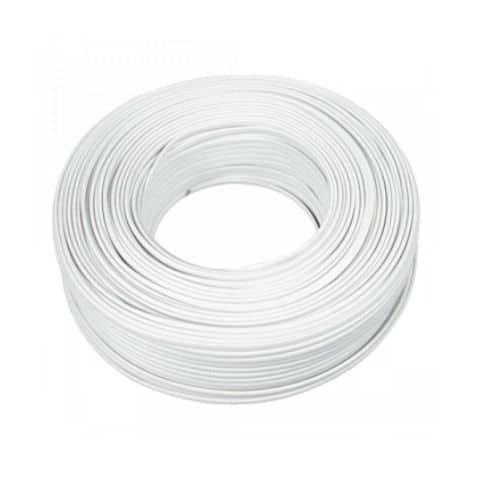 rollo 100M hilo flexible blanco 1x1.5mm