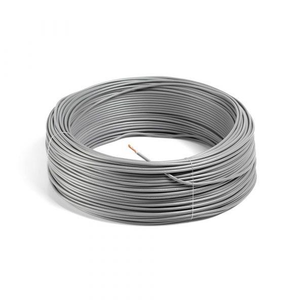 rollo 100M hilo flexible gris 1x2,5mm