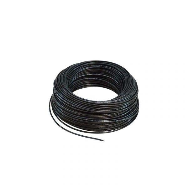 rollo 100M hilo flexible negro 1x6mm