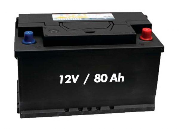 BATERÍA CORTACESPED ENDURANCE12V 80Ah-770A (353x175x 175) con indicador positivo derecha