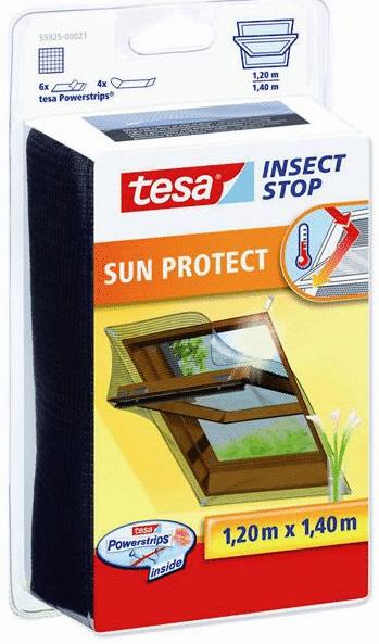 Mosquitera para ventana 1,2x1,4m. negra tesa