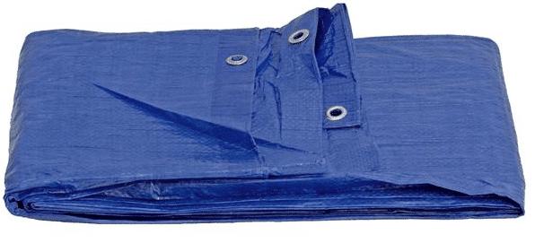 Toldo Polietileno Azul Reforzado 120gr. con ojales