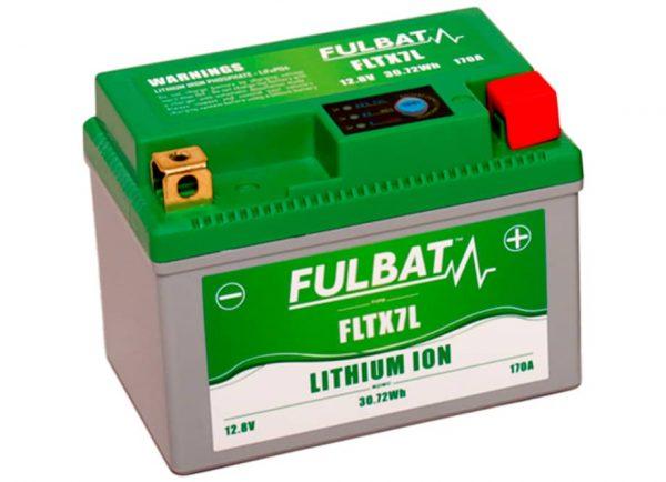 BATERIA MOTO FLTX7L 12V LI-ION 30.7Wh - 170A (113 x 70 x 85) -POSITIVO DERECHA.
