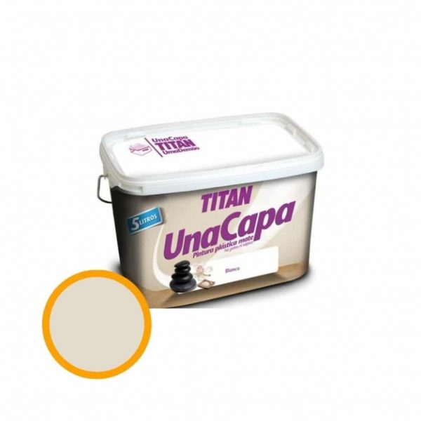 Titan  PIEDRA SUAVE pintura plástica 4L mate una capa  69630205