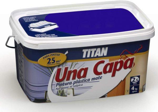 Titan TURQUESA pintura plástica 2.5L mate una capa  69630826