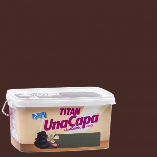 Titan CHOCOLATE pintura plástica 2,5 L mate una capa  69631226