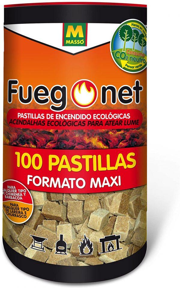 Pastillas ECOLÓGICAS de encendido fuegonet 100 unidades