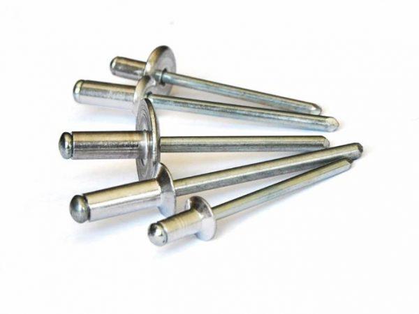 Caja remache Bralo aluminio y acero cabeza ancha