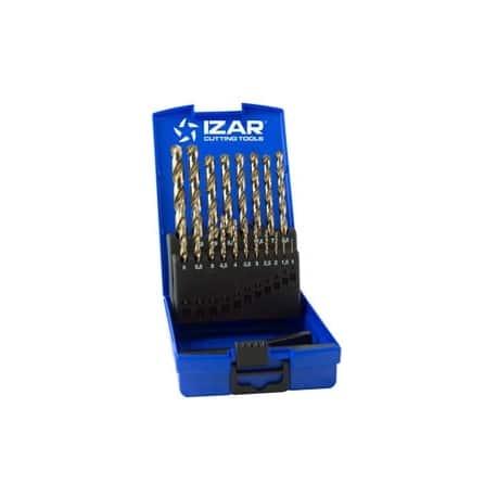 Juego brocas 1466/25274 hss-cobalto 19pz caja plastico de izar