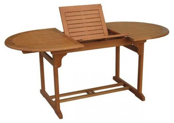 Mesa madera oval extensible 150-200x90 cm
