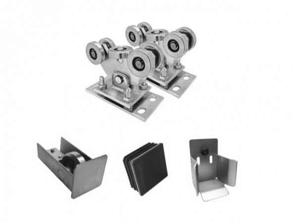 KIT rodillos para verja cantilever perfil 80x80 corredera autoportante