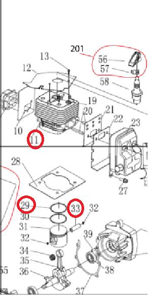 CILINDRO COMPLETO D63BA (11+29-33)