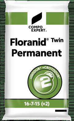 Floranid® Twin Permanent 16-7-15(+2),Abono cesped liberación lenta 25KG
